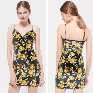 UO Bernadette Velvet Mini Dress XS NEW